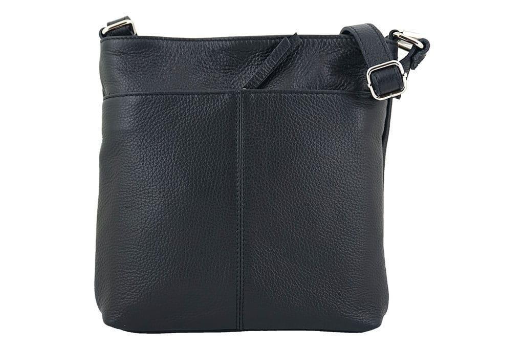 Listonoszki torby damskie ze skóry naturalnej Czarny